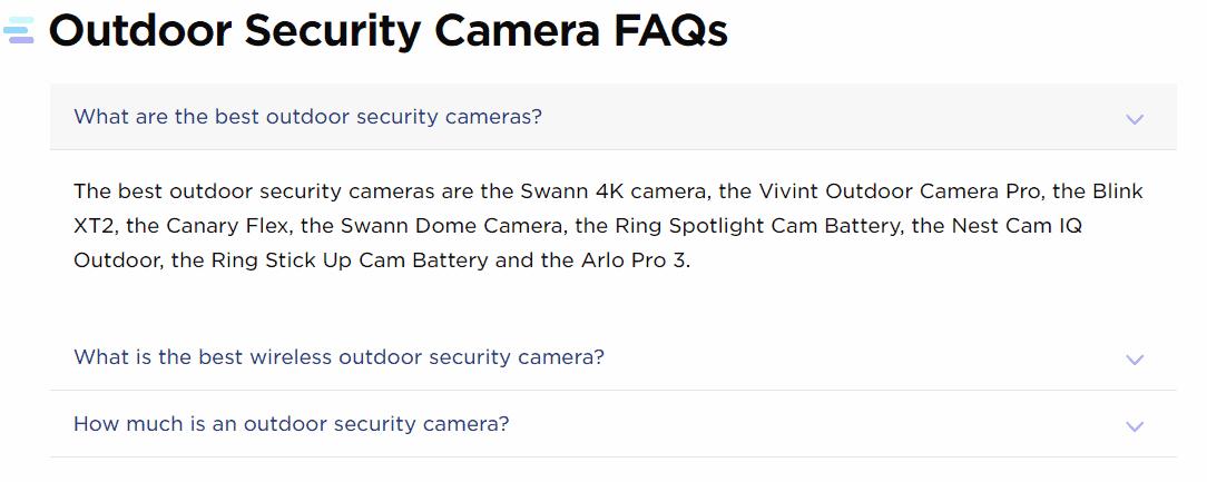 Outdoor security cameras faqs