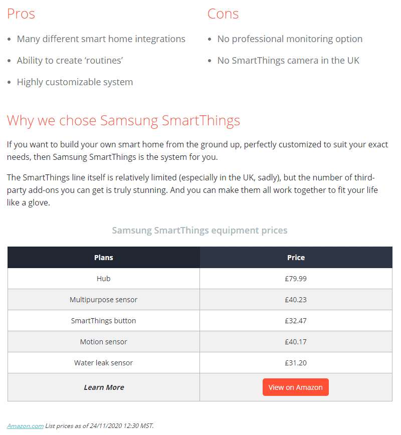 Why Choose Samsung SmartThings