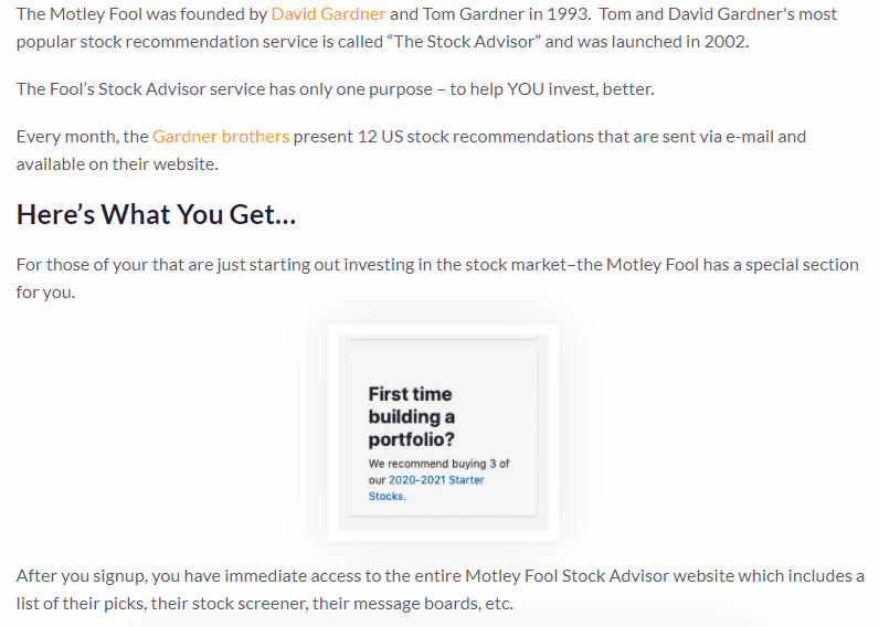 About the motley fool