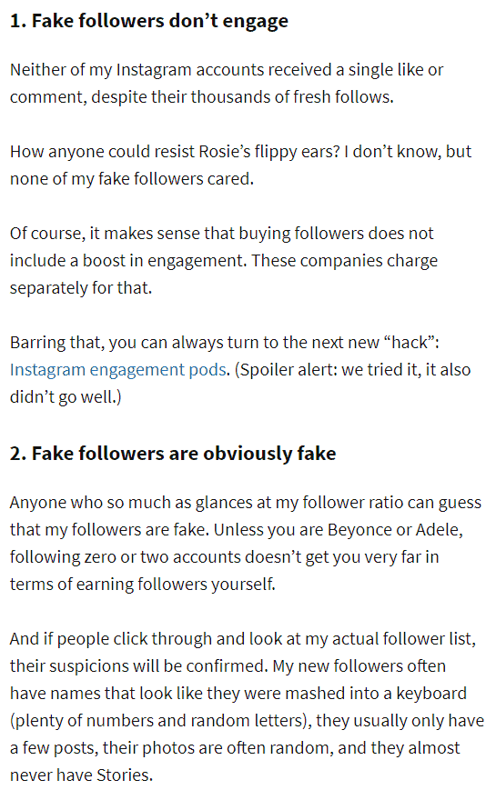 fake followers dont engage