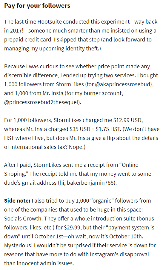 pay for your followers