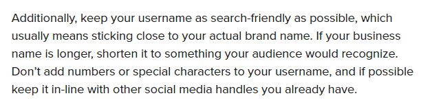 search-friendly IG username