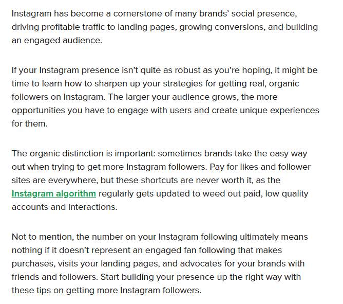 Ways to increase instagram followers