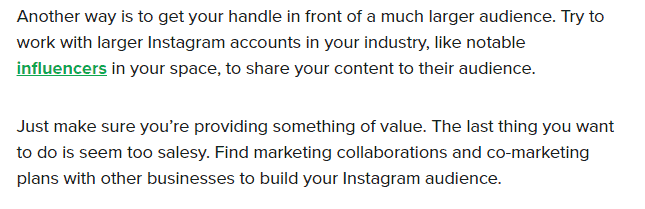work with larger instagram accounts