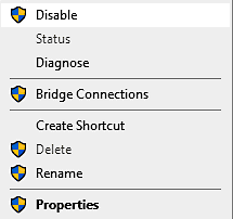 Disable connections