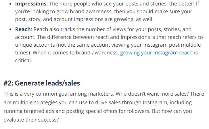 Generate Leads/Sales