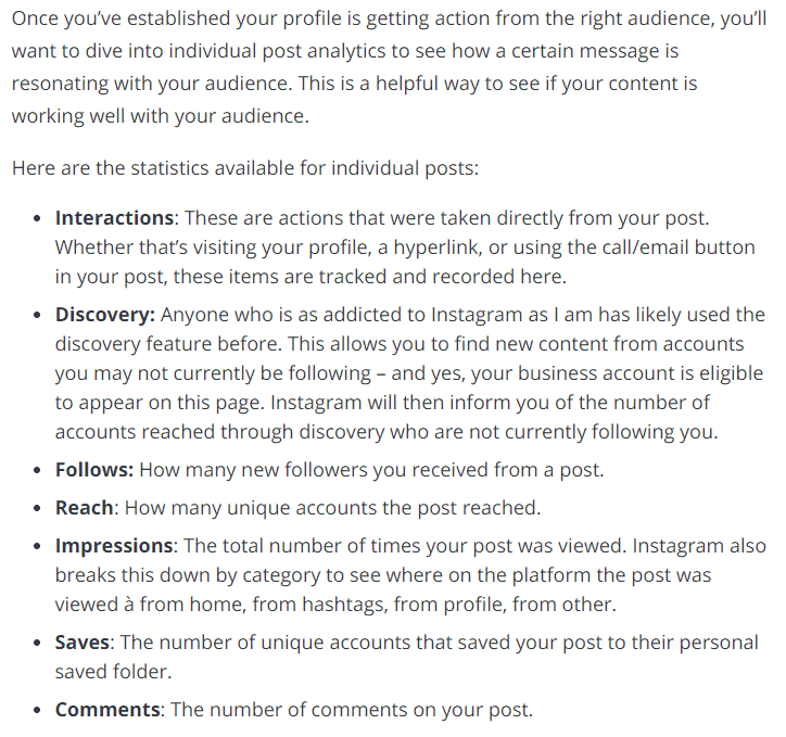 Individual Post Analytics