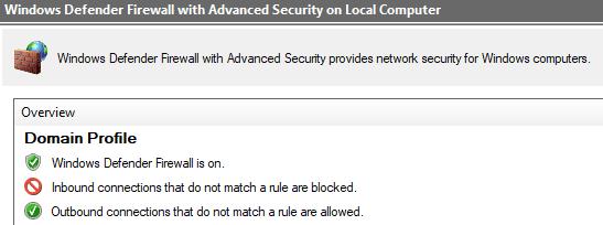 Windows Firewall on