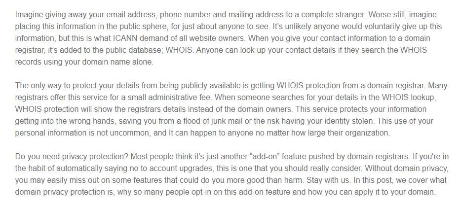 fundamentals of domain privacy