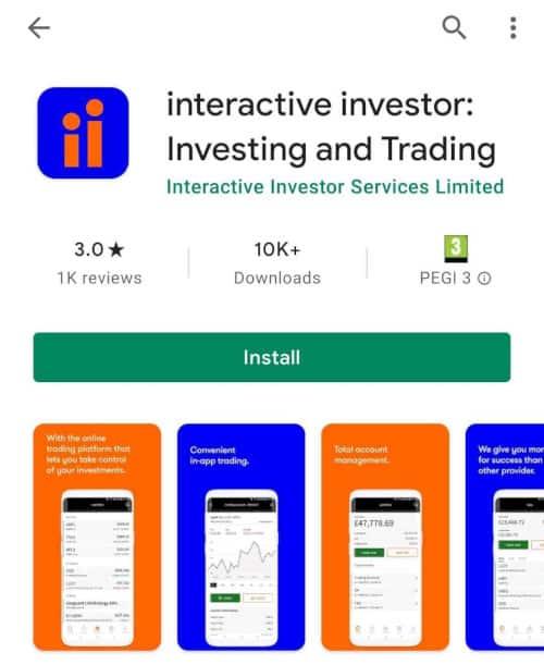 interactive investor app store