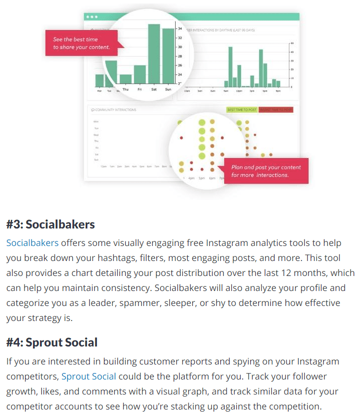 social bakers and sprout
