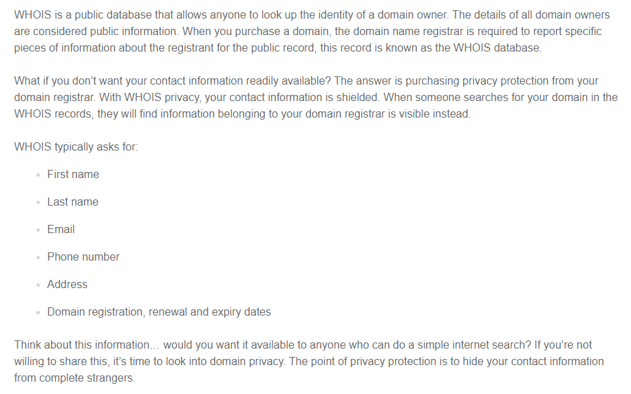 What is Domain Privacy Protection