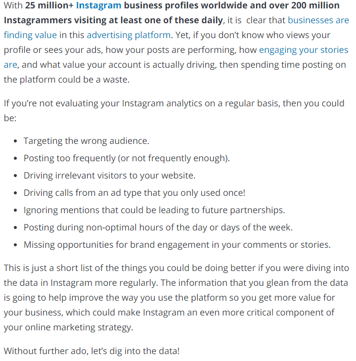 Why should I care about Instragram Analytics