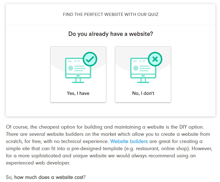 find the perfect website