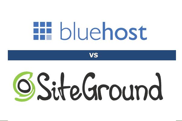bluehost vs siteground logo