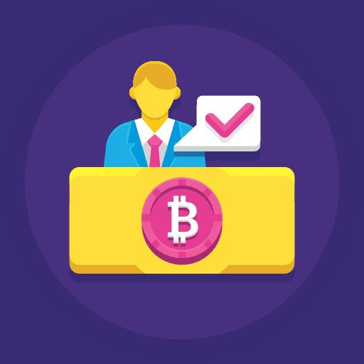purple trading icon
