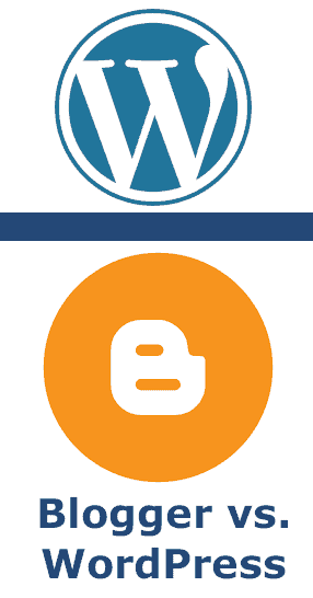 blogger vs wordpress icon