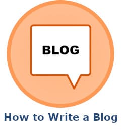 how to write a blog icon