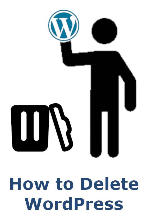 How to Delete WordPress icon