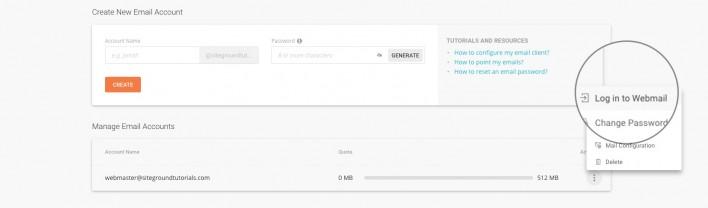 Siteground webmail software login