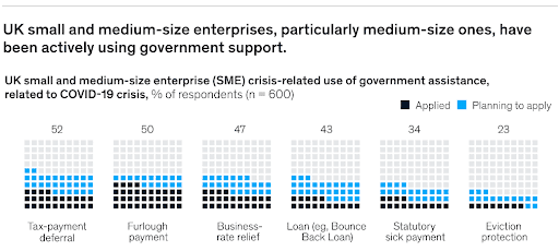 businesses using government support