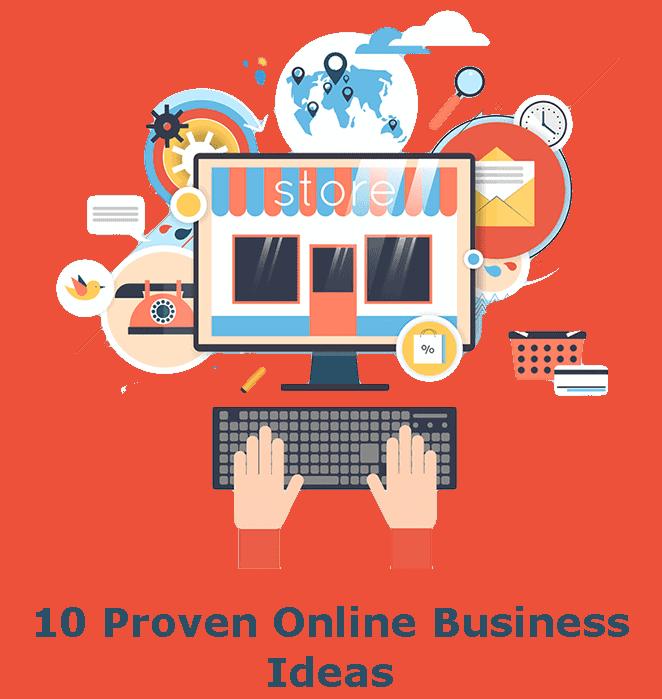 10 proven online business ideas badge