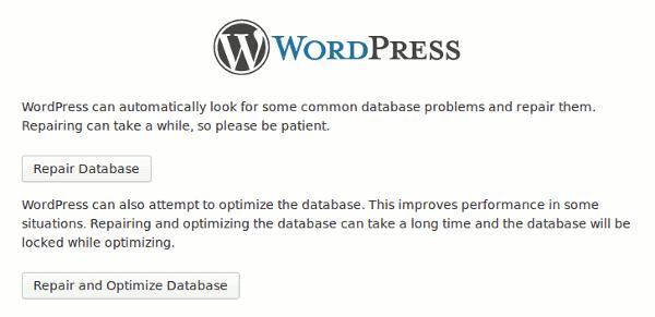 corrupted datebase wordpress