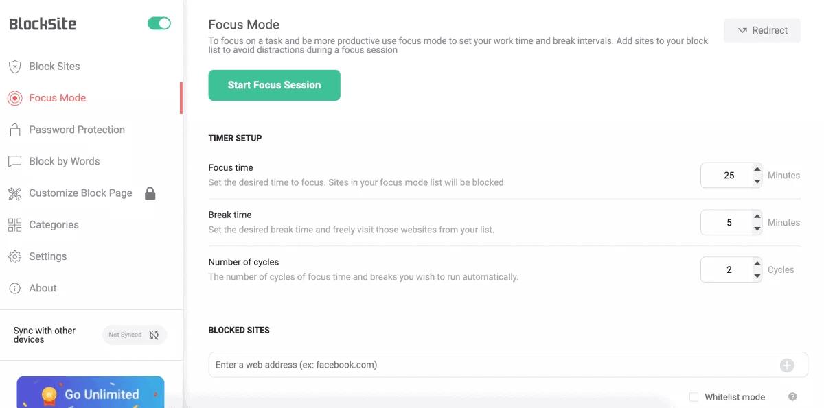blocksite-focus-mode