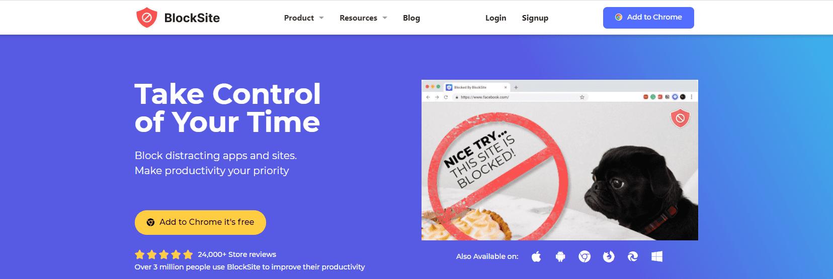 blocksite tool homepage