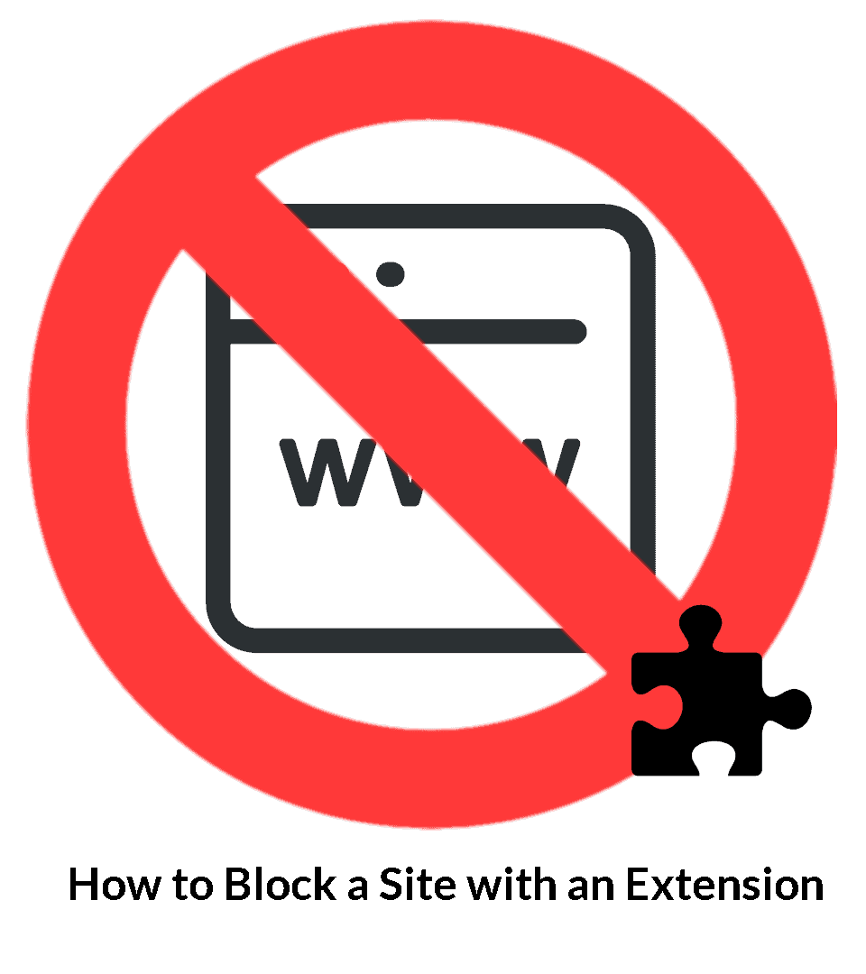 how to block a site with an extension badge